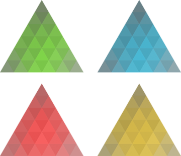 4 Colored Triangles